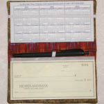 Checkbook Cover Paper Pattern