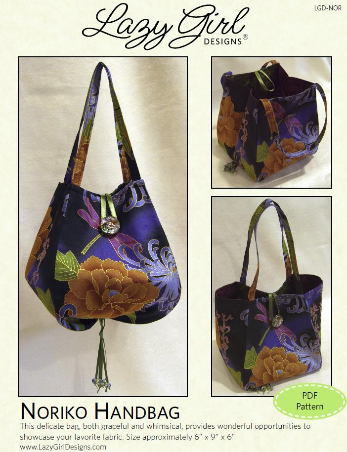 Lazy Girl Designs  Downloadable Pattern Noriko Handbag