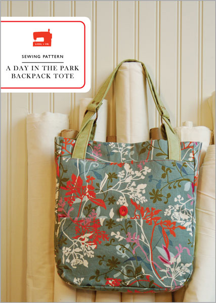 Liesl + Co. A day in the park backpack tote Downloadable Pattern LC001