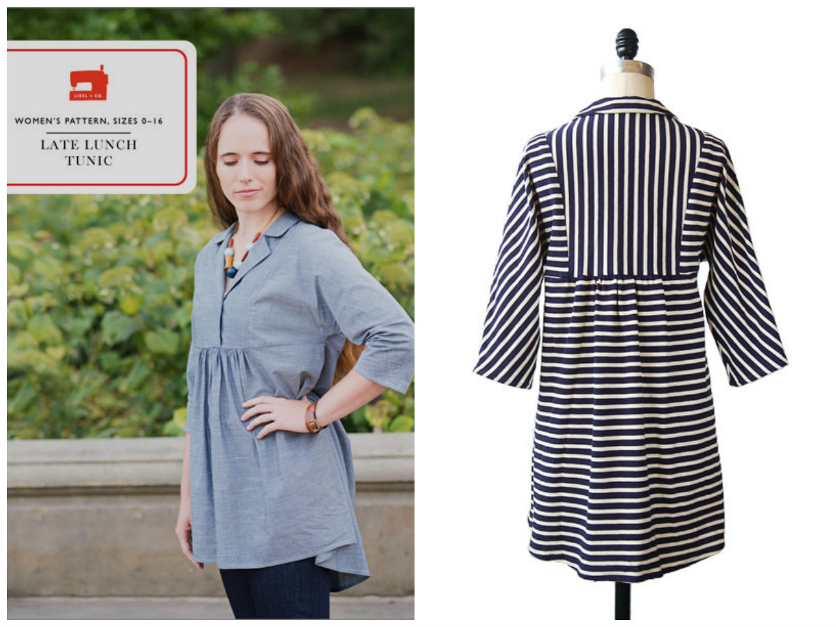 Liesl + Co. Late lunch tunic Downloadable Pattern LC004