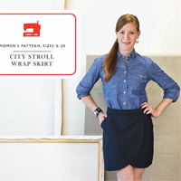 Liesl + Co. City Stroll Wrap Skirt Digital Pattern