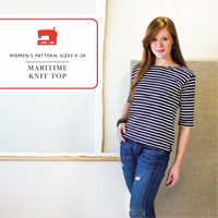 Liesl + Co. Maritime Knit Top Digital Pattern