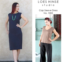 Loes Hinse Cap Sleeve Dress Pattern
