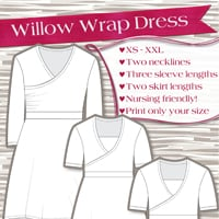 Love Notions Willow Wrap Dress Digital Pattern
