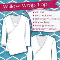 Love Notions Willow Wrap Top Digital Pattern