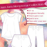 Love Notions Jam Jam Sleepwear Collection Digital Pattern