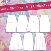 Love Notions Sybil Illusion Skirt Collection Digital Pattern