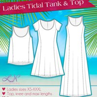 Love Notions Tidal Top and Dress Digital Pattern