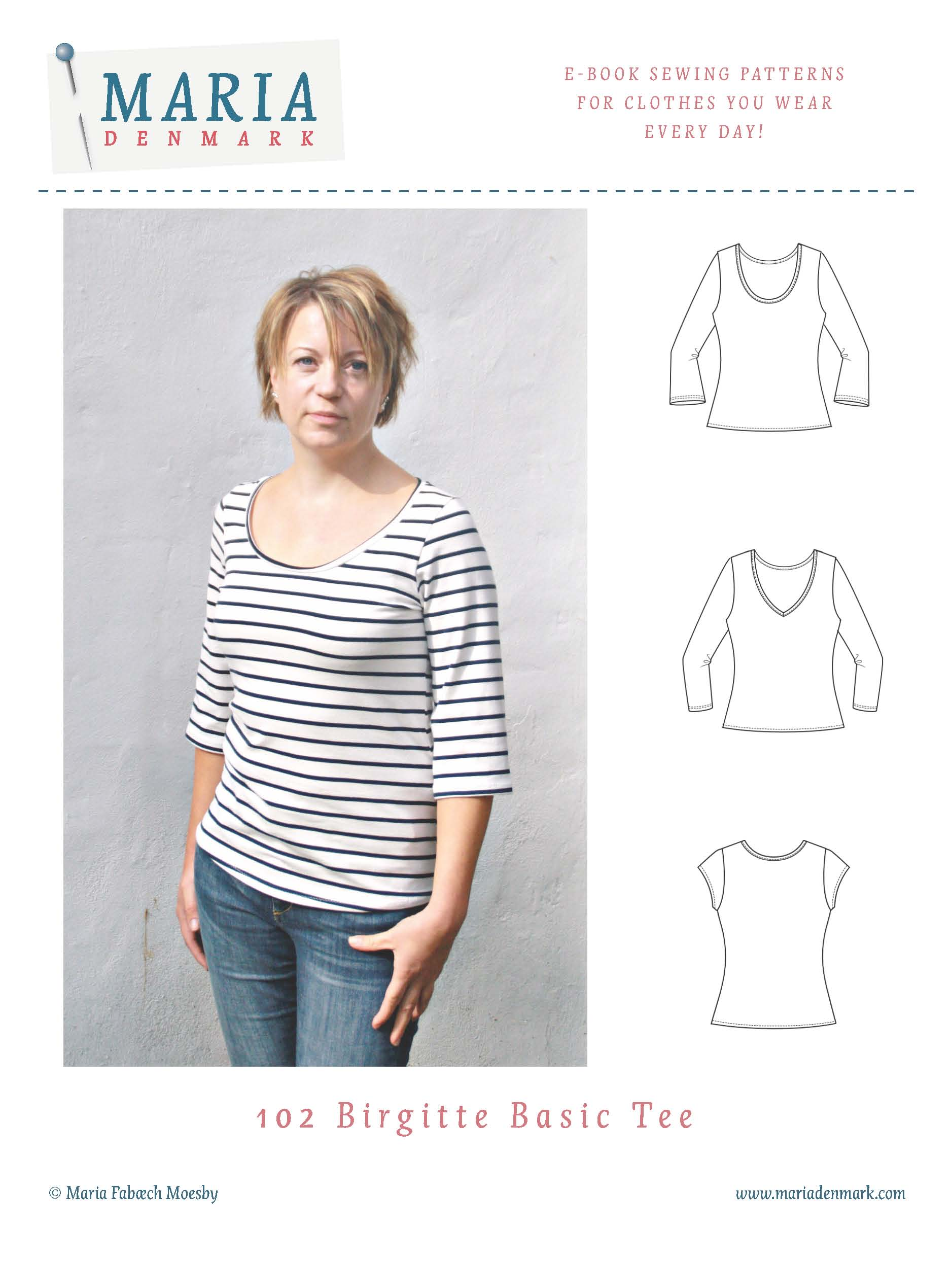 MariaDenmark Birgitte Basic Tee Downloadable Pattern 102