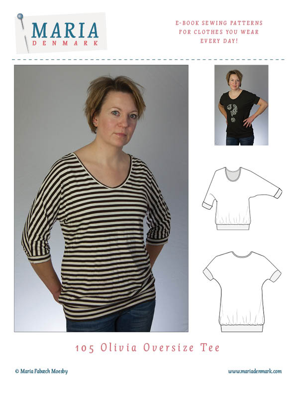 MariaDenmark Olivia Oversize Tee Downloadable Pattern 105