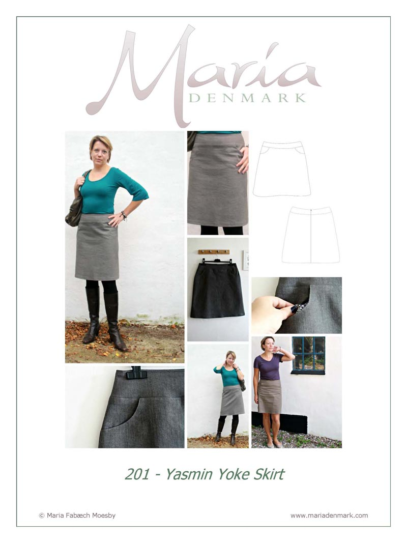 Maria Denmark 201 Yasmin Yoke Skirt Downloadable Pattern