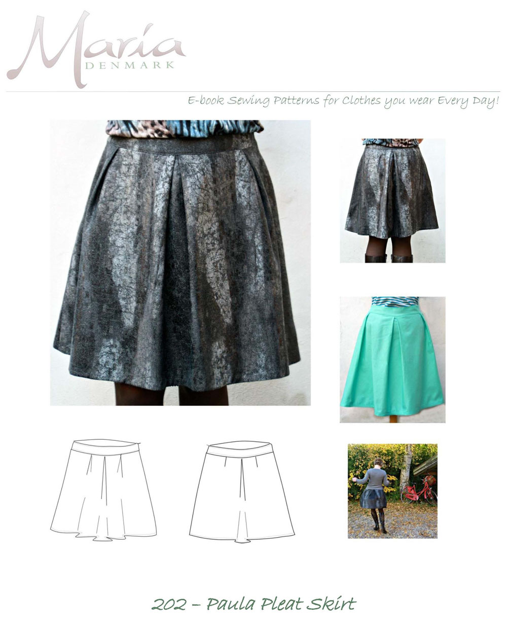 MariaDenmark Paula Pleat Skirt Downloadable Pattern 202