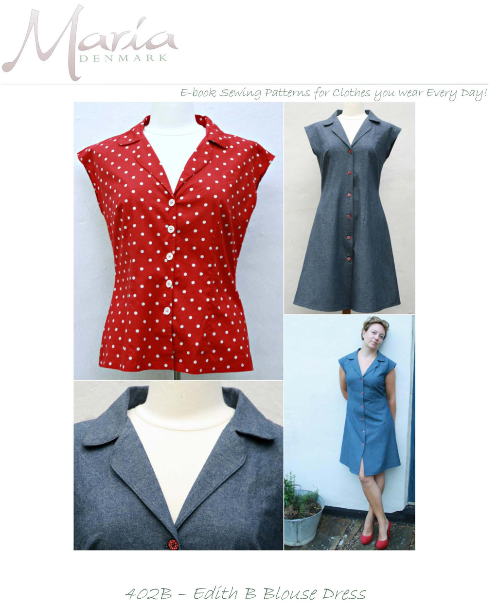 MariaDenmark Edith Blouse Dress 402