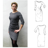 Maria Denmark Karen Drape Dress Digital Pattern