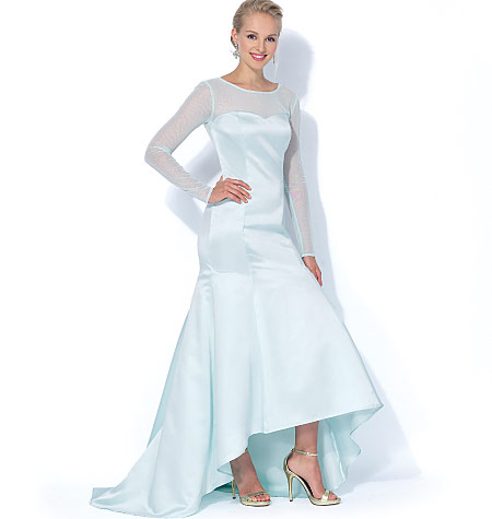 Mccall 39 s 7320 misses 39 miss petite mermaid hem and high low for Hi lo hemline wedding dresses