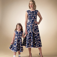 McCalls 7354 Pattern ( Size 3-45-6 7-8 )