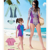 McCalls 7417 Pattern ( Size 3-45-6 7-8 )