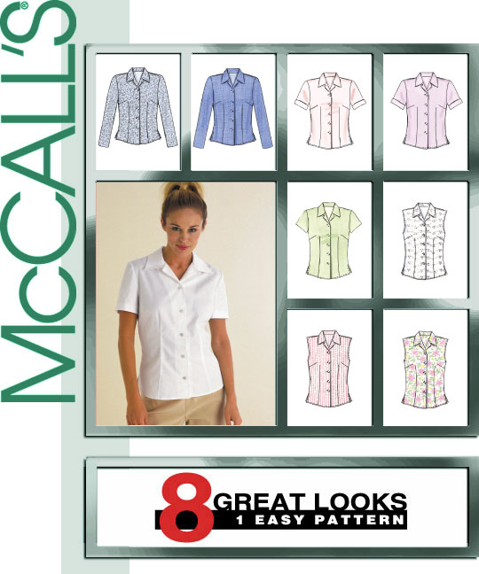 McCall's Misses Tops 8 Great Looks 2094