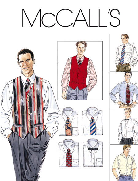 McCall's Men's Shirt, Vest, and Ties 2447