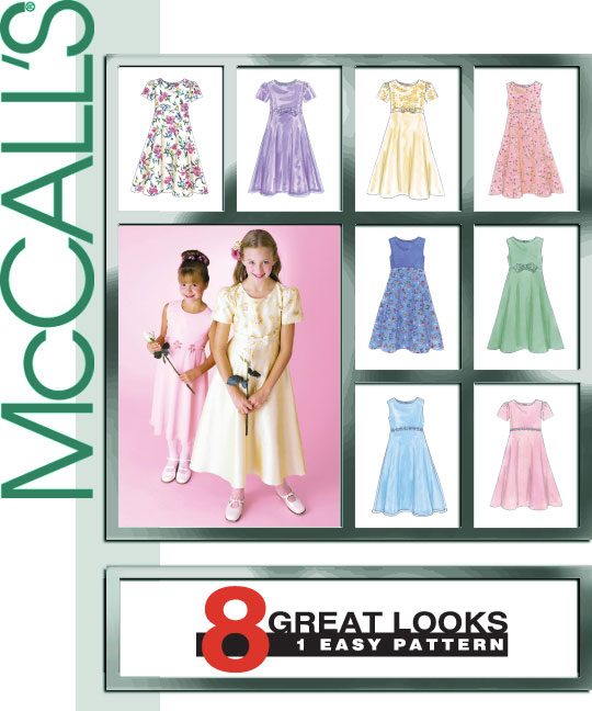 McCall's Children and girls dress 2590