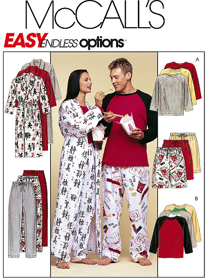 McCall's Sleep wear pj & robe 3019