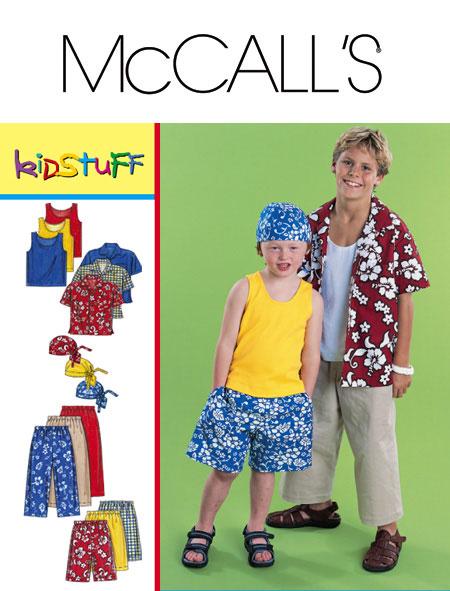 McCall's shirts,pants,shorts,head wrap 3193