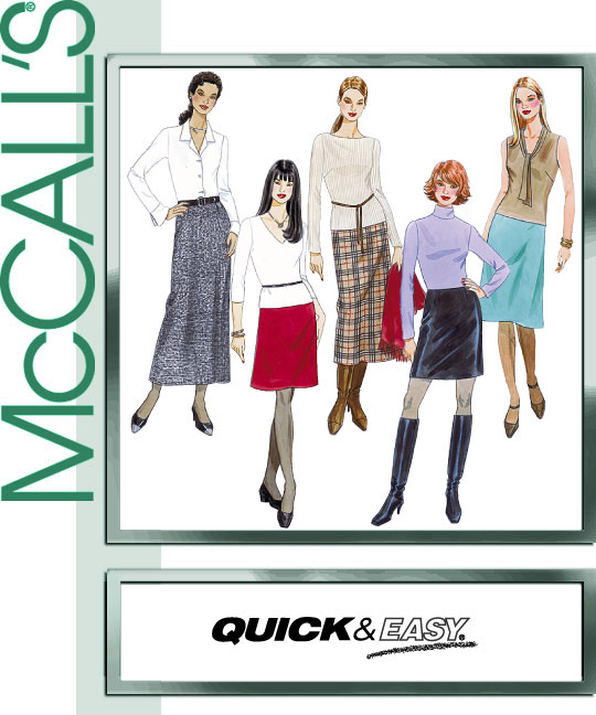 McCall's A-line Skirt in 5 lengths 3341
