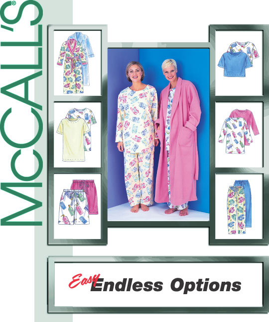 McCall's 2-pc. pajamas and robe 3370