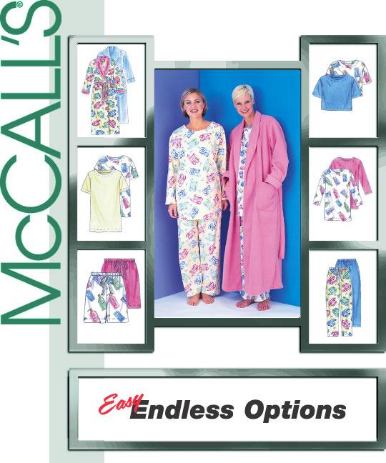 McCall's 2-pc. pajamas and robe 3370