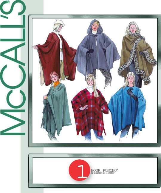 McCall's One-hour poncho 3448