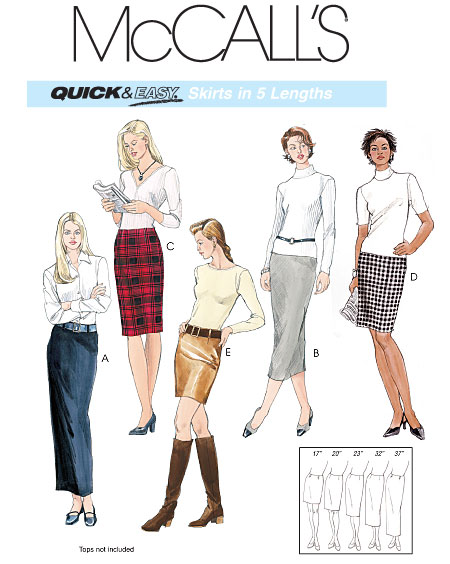 McCall's Misses' straight skirts 3830