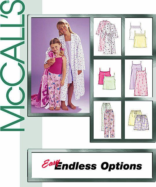 McCall's Pajamas.. Easy Endless Options 3906
