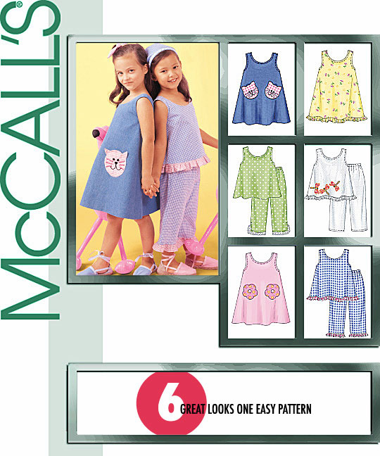 McCall's Girl's Dresses, Tops, and Pant 4006