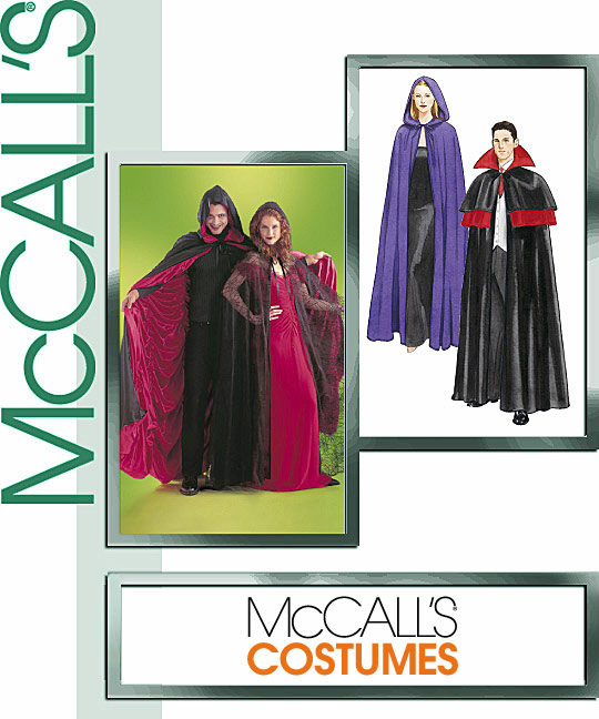 McCall's Cape Costume, Lined or Unlined 4139