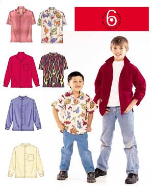 McCall's Boys shirts-6 looks/1 EZ patt. 4164