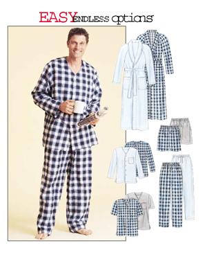 McCall's Men's robe, PJs 4244