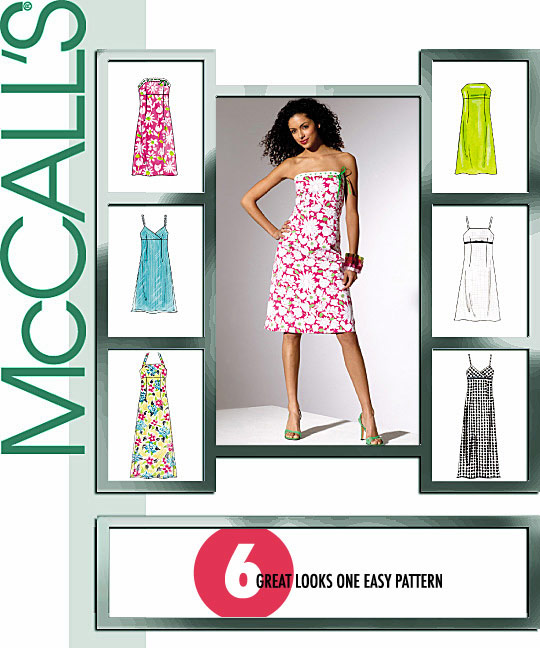 McCall's Fitted Bodice A-line Dresses 4440