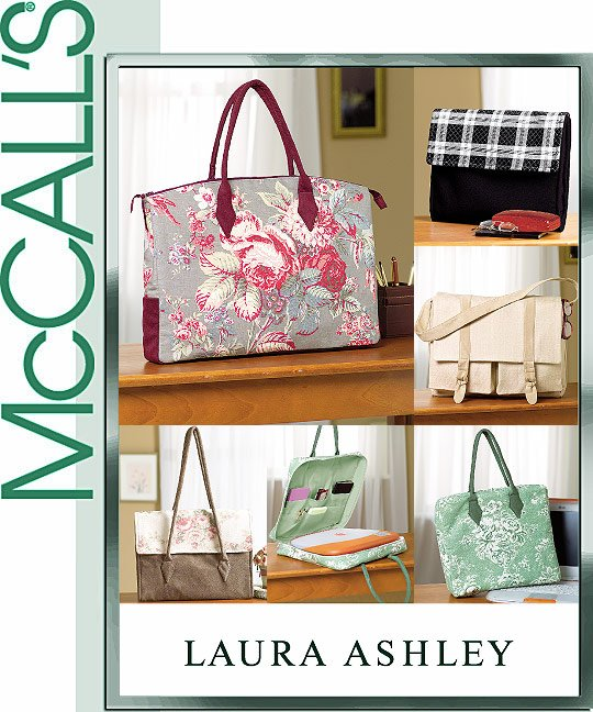 McCall's Laura Ashley office totes 4531