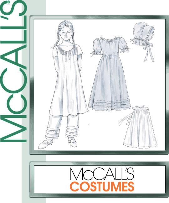 McCall's Girl's Early American Costume 4547