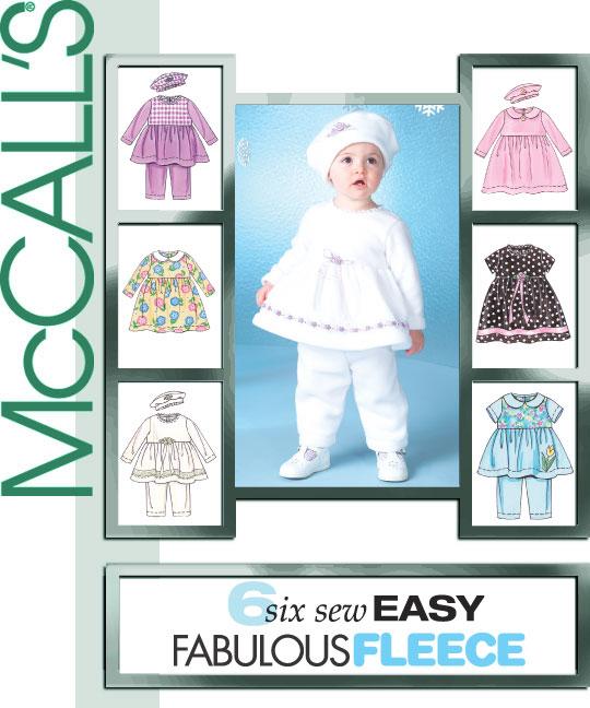McCall's infants top, dress, pants 4641