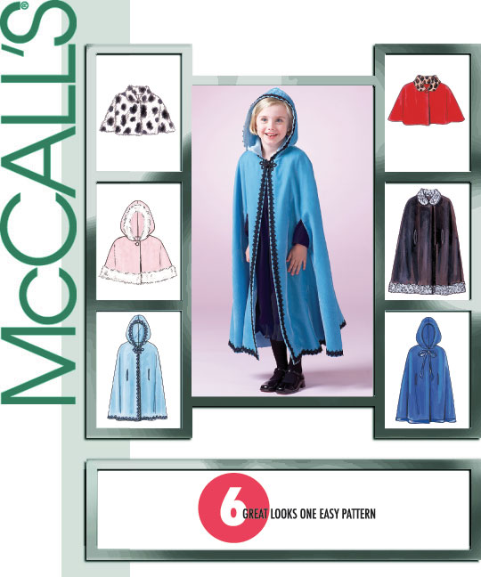 McCall's Girls' Lined Capelets and Cape 4703
