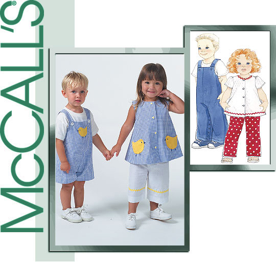 McCall's toddler girls top and capris 4756