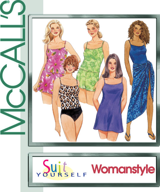 McCall's Swwimsuits and Sarong 4848