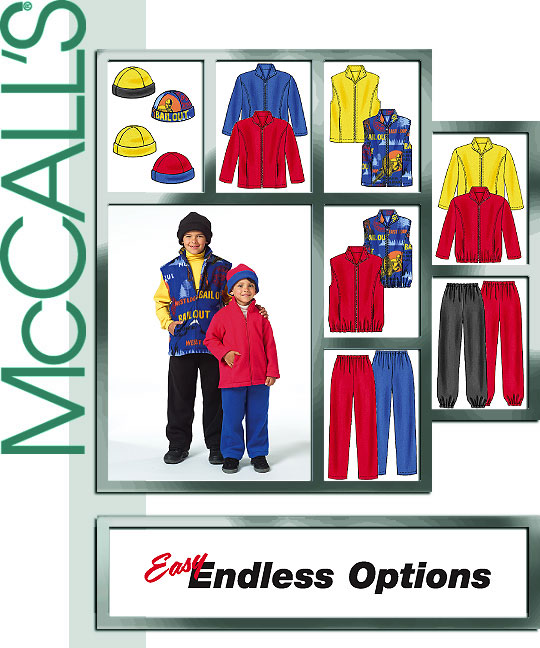 McCall's CHILDREN'S/BOYS' JACKET, VEST, 4964