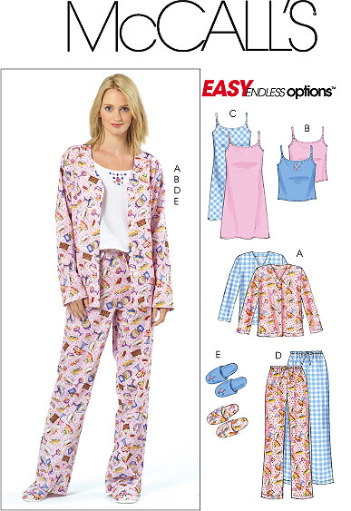 McCall's Pajamas, camisole, nightgown 4979