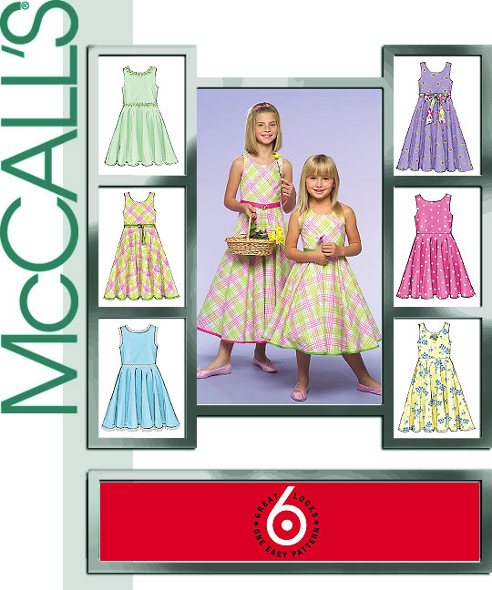 McCall's Childrens dress in 2 lengths 5033