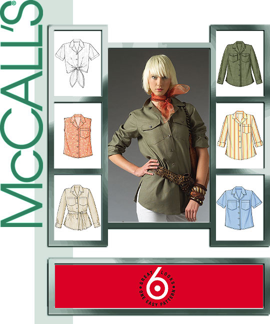 McCall's Shirt in Two Lengths & Tie Bel 5052