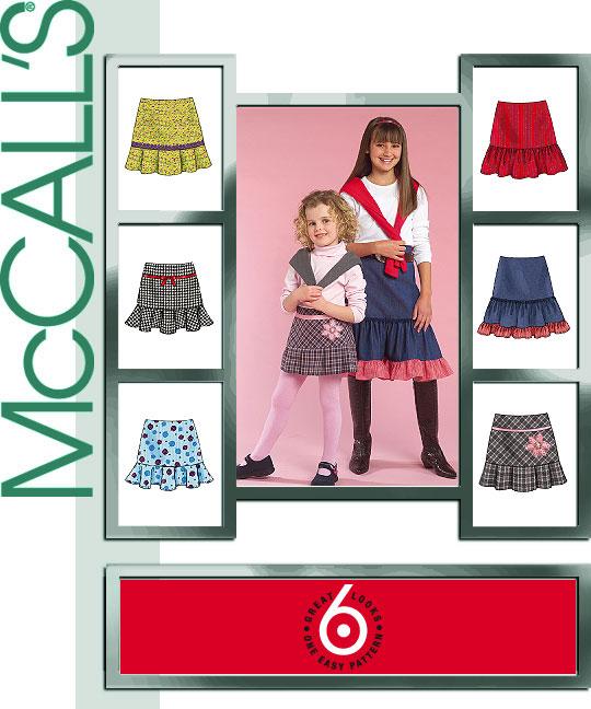 McCall's Girls' Skirts 5169