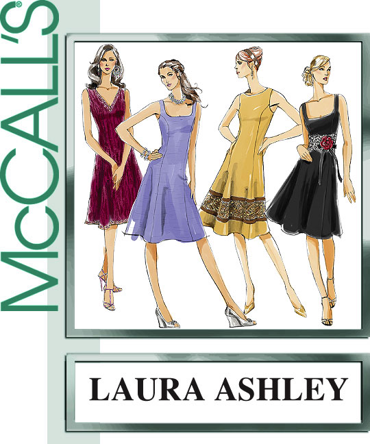 McCall's Laura Ashley Misses Lined Dres 5232