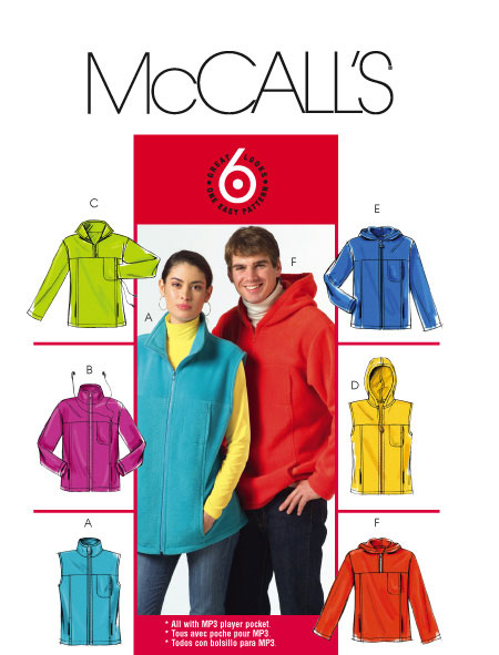 McCall's MISSES/MEN'S UNLINED VEST AND 5252